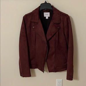 RED SUEDE WOMENS JACKET